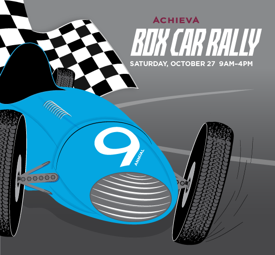 Box Car Rally save the date slider